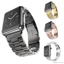 link bracelet watches images Stainless steel band for apple watch strap link bracelet 38mm 42mm jpg
