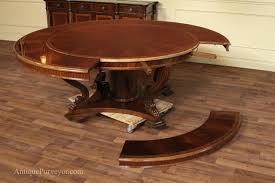 round dining table with leaf extension with ideas image 913 zenboa