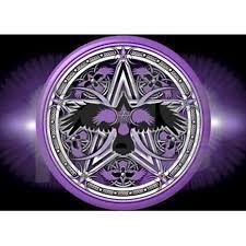 Pentacle Rug Purple Crow Pentacle Banner 5 U0027x7 U0027area Rug By Admin Cp14613691