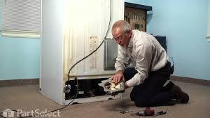refrigerator repair replacing the condenser fan motor ge part
