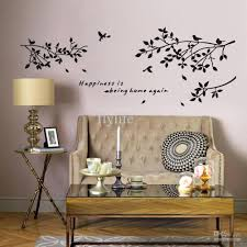 wall arts family monogram wall decal pictures of photo albums wall arts happiness is being home again vinyl quotes wall stickers and black tree branch