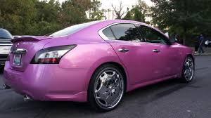 nissan altima for sale memphis tn pink nissan maxima on dub floaters at mlk park in memphis tn youtube