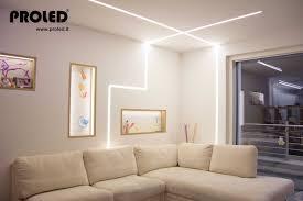 illuminazione a soffitto a led nicchie illuminate strisce led dimmer a pulsante illuminazione
