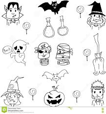costume halloween in doodle stock vector image 73309453
