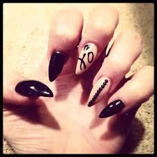 xo black and stiletto nails for valentine u0027s day nails