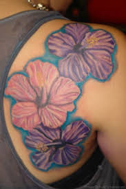 93 hibiscus flower tattoos on shoulder