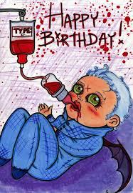 vampire baby birthday card by drencromdevotchka on deviantart