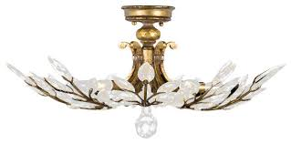 crystal semi flush mount lighting ceiling mount vanity light gold flush mount crystal ceiling light