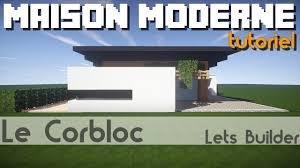 Maison Modern Minecraft by Minecraft Tuto Petite Maison Moderne Youtube