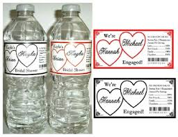 engagement favors 20 engagement party favors water bottle labels waterproof ink any