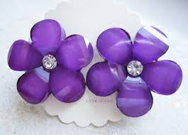purple earrings purple earrings forget me not flower with 2826e