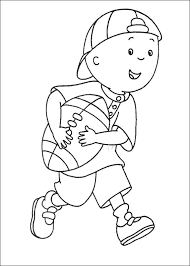 caillou coloring pages coloring pages kids