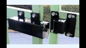 aleko lm149 electric lock for 24v swing gate openers youtube