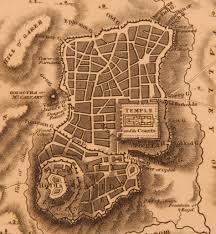 Map Of Jerusalem 1815 Map Of Jerusalem 19th Century Copper Engraving Of Holy City