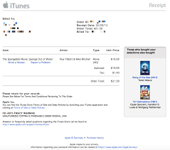 Receipt Template For Mac Apple Refreshes Itunes Receipts With A New Design U0027purchased From