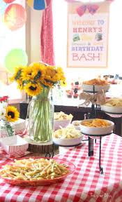 Brunch Setup Books U0026 Bbq Birthday Bash 3rd Birthday Party Summer Party