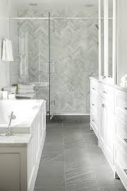 Porcelain Tile For Bathroom Shower White And Gray Bathroom With Gray Marble Herringbone Shower Tiles