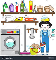 house cleaning illustration set stock vector 208653511 shutterstock