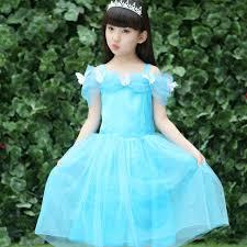 aliexpress buy lace sequins princess elsa dress snow queen