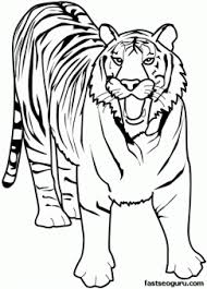 printable animal tiger of africa coloring pages printable