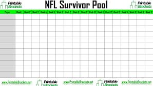 nfl survivor pool nfl pool