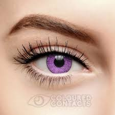 purple eye color violet purple mystic two tone 90 day colored contacts cosmetic