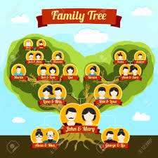 family tree with places for your pictures and names vector