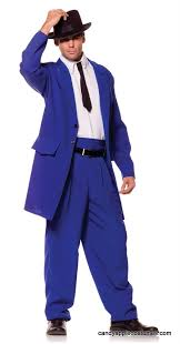 Candy Apple Halloween Costumes Men U0027s Blue Zoot Suit Costume 30s 40s Candy Apple