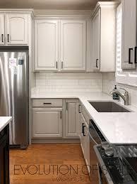valspar kitchen cabinet paint white painted cabinets in valspar s frappe evolution of style
