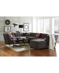Pine Living Room Furniture Roxanne Macys Fabric Modular Living Room Sofa Tufted Seat And Back