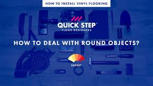 How To Lay Laminate Flooring Pattern How To Lay A Vinyl Floor Around Round Objects Tutorial By Quick
