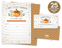 Raffle Tickets For Baby Shower Amazon Com Pumpkin Bring A Book Insert For A Baby Shower 50 Count