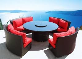 Sofa Round Patio Interesting Circular Outdoor Furniture Patio Furniture