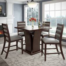 counter height dining room table sets furniture of america rathbun modern 6 piece counter height dining