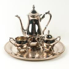 Coffee Set gorham silver plate tray with kent coffee set ebth