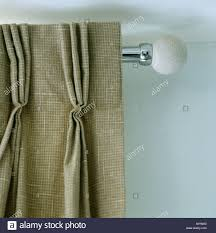 French Pleat Curtain Curtain Pole With Stone End And Curtain With French Pinch Pleat