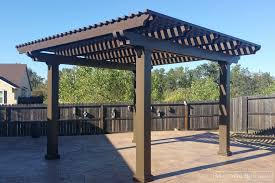 lattice free standing cover alumawood covers majestic builders