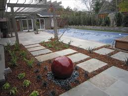 landscaping with rocks and mulch river rock forms a triple threat
