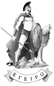 amazing spartan and wolf