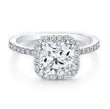 set diamond white gold square halo bezel set diamond accent engagement ring