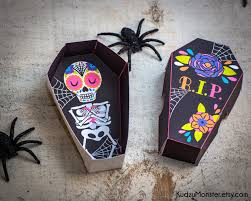 halloween sugar skull day of the dead printable coffin party