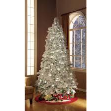 holiday time artificial christmas trees pre lit 7 5 u0027 flocked