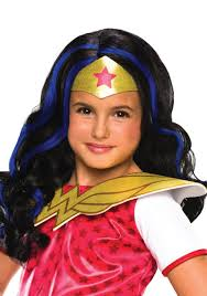 wonder woman halloween costume dc superhero girls wonder woman wig