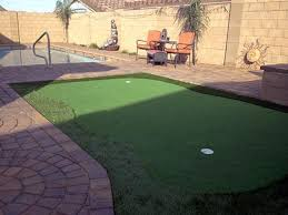 Building A Backyard Putting Green by Grass Turf Vernon Arizona Home Putting Green Commercial Landscape