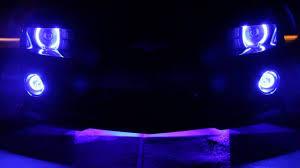 2010 camaro custom oracle blue led halo lighting by aac youtube