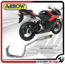 honda cbr 600 price arrow system exhaust tube complete competition titanium honda cbr
