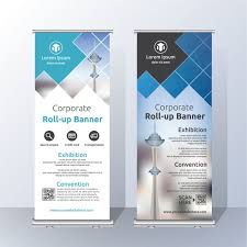 free printable vertical banner template roll up template design vector free download