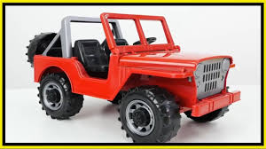 jeep toy toy cars naughty jeep crash demo traffic rules tow truck