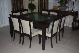 trendy and rich looking square dining table for 8 video and