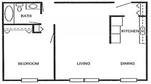 600 Sf House Plans Apartments 600 Square Feet Square Foot Apartment Floor Plan
